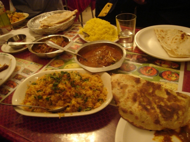 Indian food. It's so spicy.