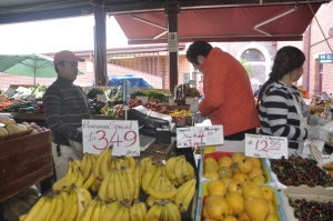 Buying banana